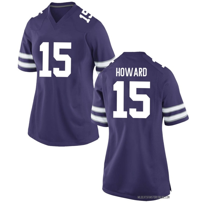 Game Women's Will Howard Kansas State Wildcats Purple Football College Jersey