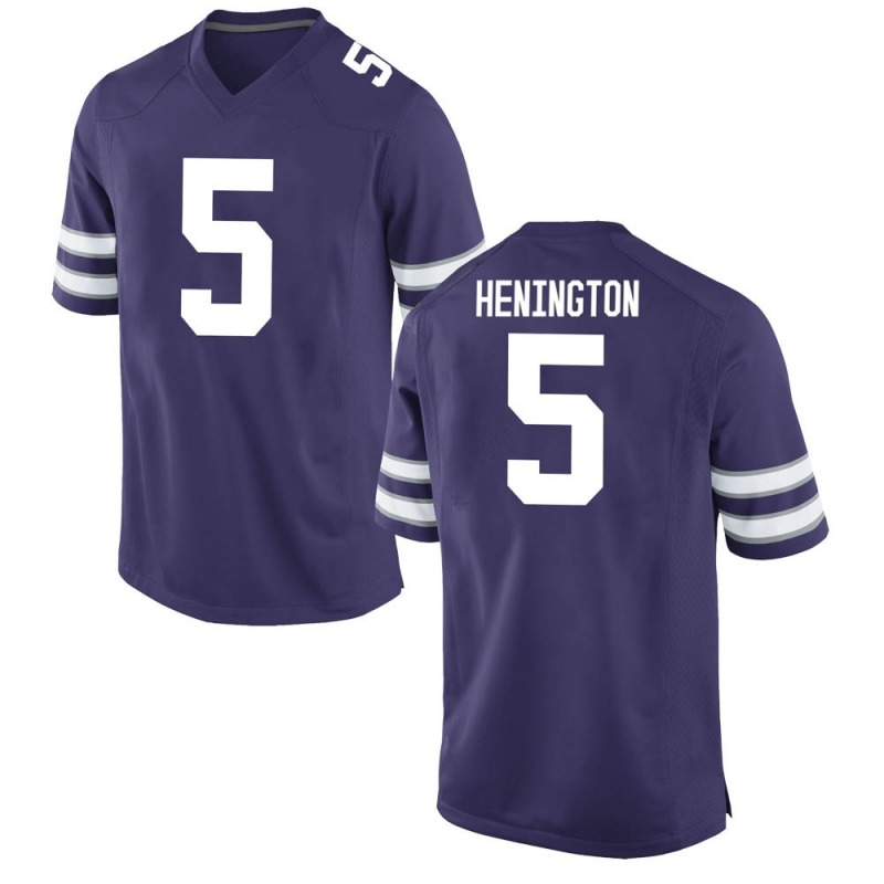 Game Youth Ryan Henington Kansas State Wildcats Purple Football College Jersey
