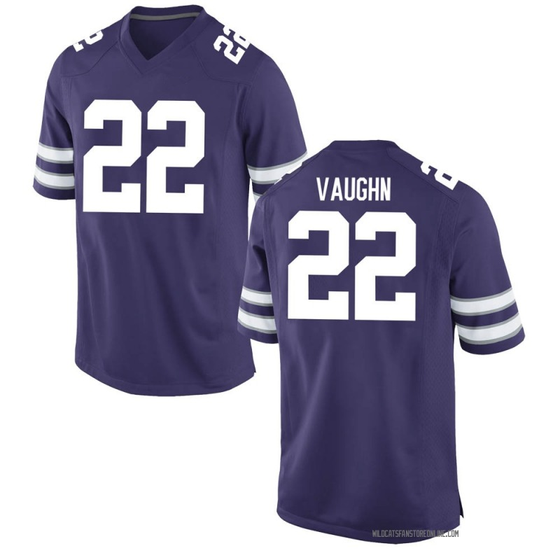 Replica Men's Deuce Vaughn Kansas State Wildcats Purple Football College Jersey