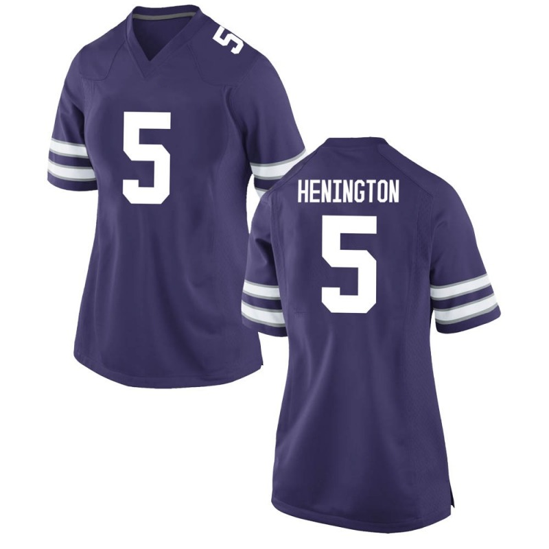 Replica Women's Ryan Henington Kansas State Wildcats Purple Football College Jersey