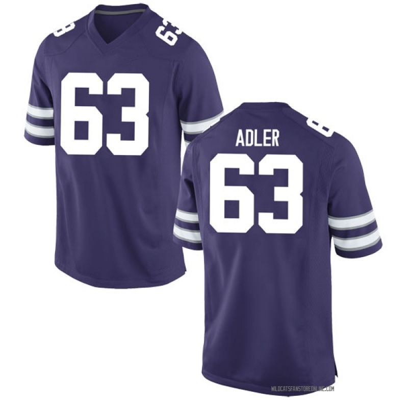 Replica Youth Ben Adler Kansas State Wildcats Purple Football College Jersey