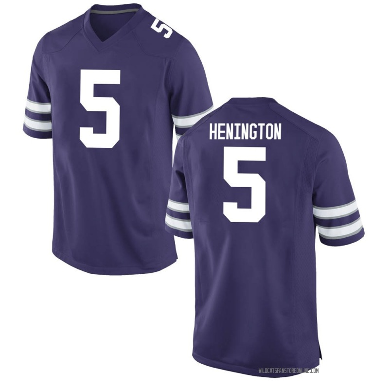 Replica Youth Ryan Henington Kansas State Wildcats Purple Football College Jersey